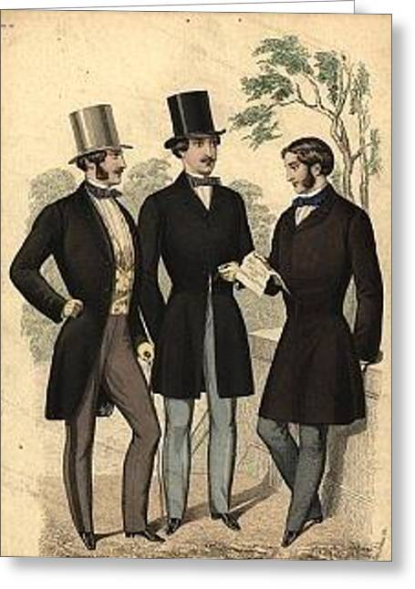 Sideburns Digital Greeting Cards - Fine Gentleman Greeting Card by Julie Butterworth