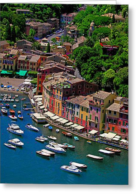 Portofino Italy Greeting Cards - Fine Port Greeting Card by John Galbo