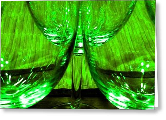 Wine-glass Greeting Cards - Fine Wine And Dine 5 Greeting Card by Will Borden