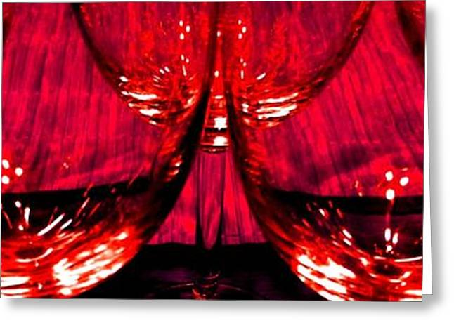 Wine-glass Greeting Cards - Fine Wine And Dine 6 Greeting Card by Will Borden