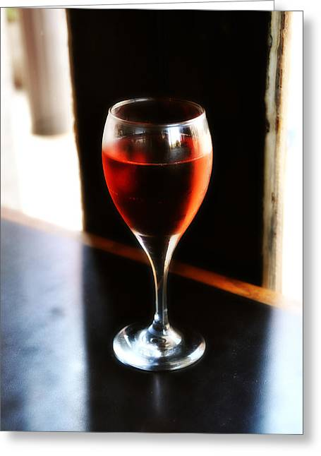 Fine Wine Greeting Card by Bill Cannon