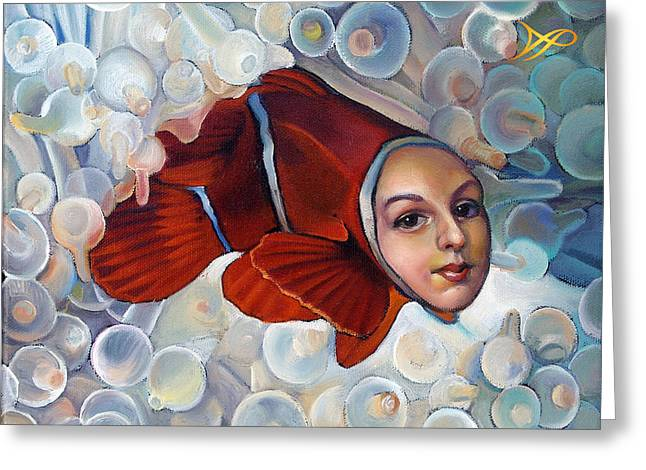 Fish Scales Greeting Cards - Finding Finessa Greeting Card by Patrick Anthony Pierson