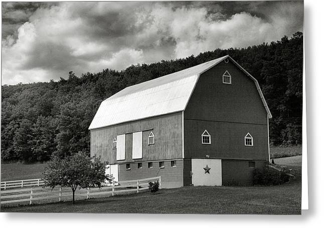 Barn Print Greeting Cards - Finger Lakes Barn I Greeting Card by Steven Ainsworth