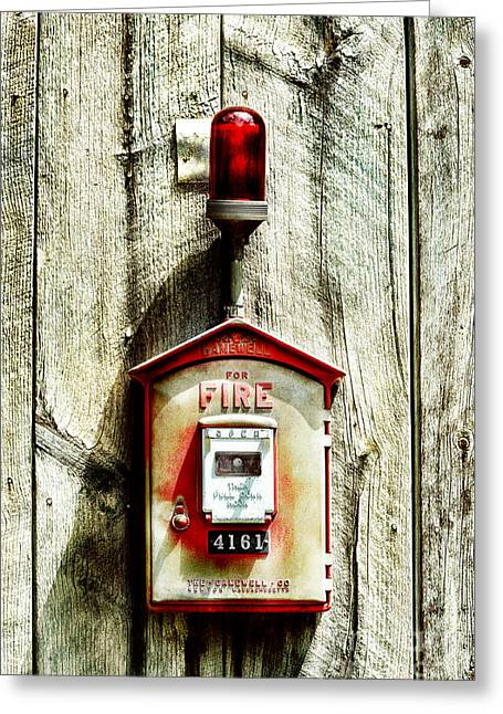 Fire Wood Greeting Cards - Fire Alarm Greeting Card by HD Connelly