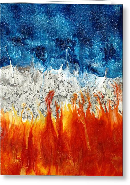 Fire And Ice Greeting Card by Paul Tokarski