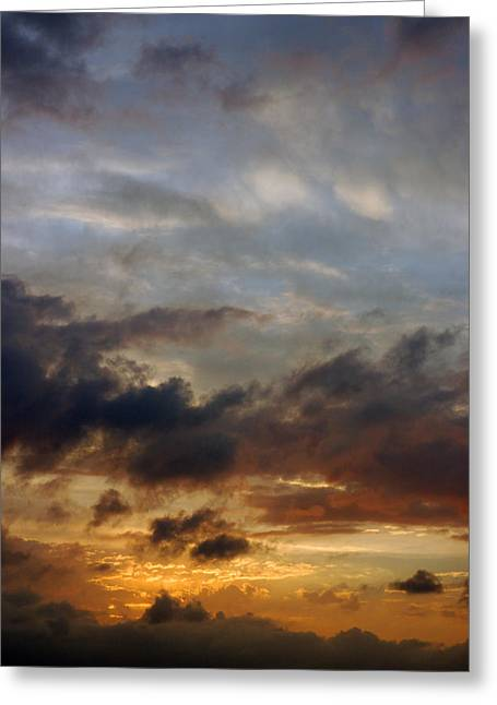 Skys Greeting Cards - Fire and ice Greeting Card by Robert Anschutz