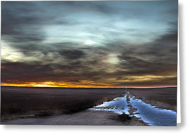 Winter Roads Greeting Cards - Fire and Ice Greeting Card by Thomas Zimmerman