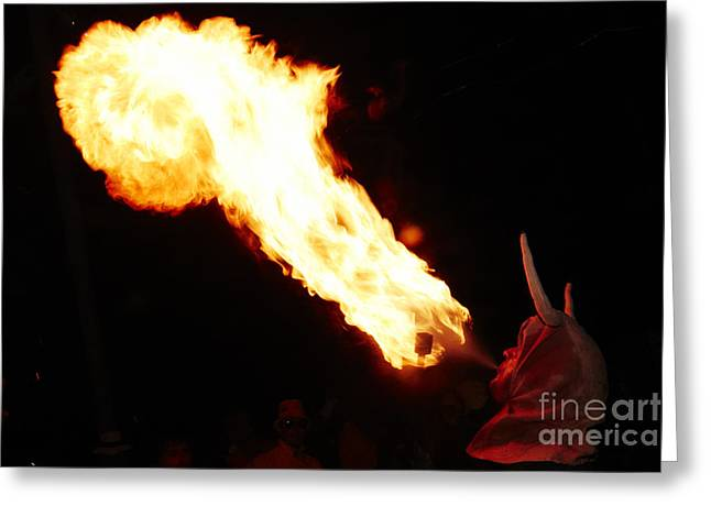 Fuegos Artificiales Greeting Cards - Fire axe Greeting Card by Agusti Pardo Rossello