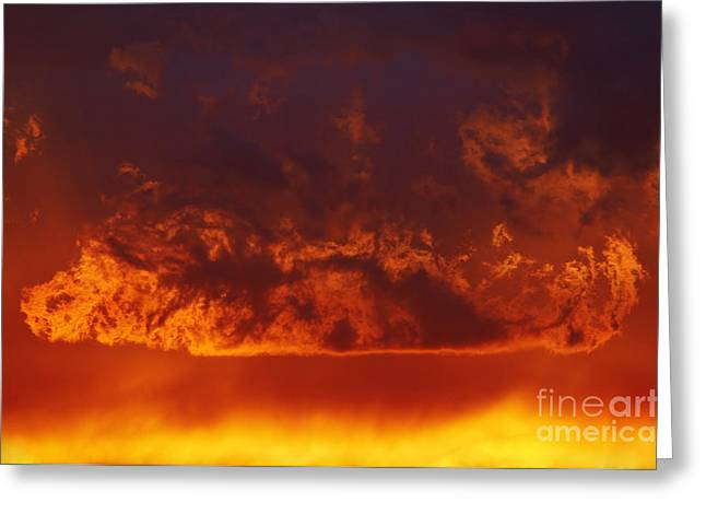 Recently Sold -  - Gloaming Greeting Cards - Fire Clouds Greeting Card by Michal Boubin