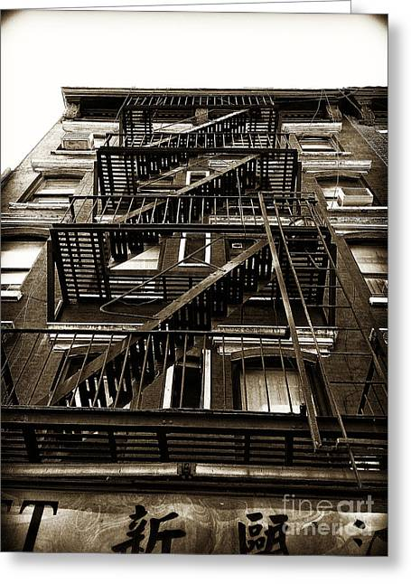 Fire Escape Greeting Card by Thanh Tran