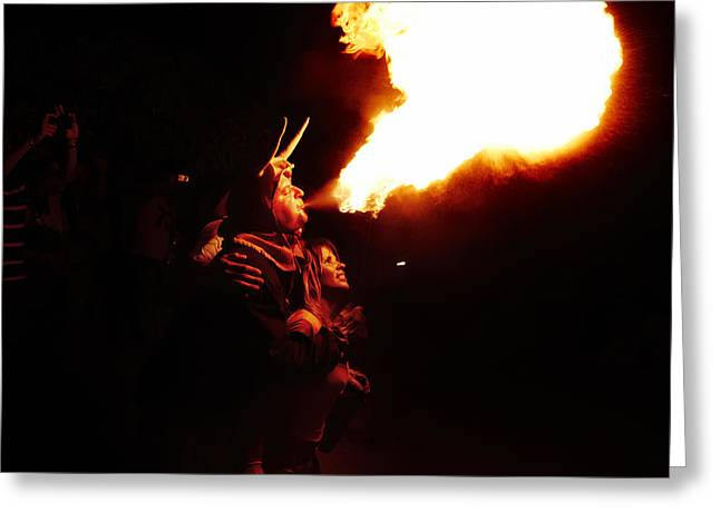 Fuegos Artificiales Greeting Cards - Fire girl Greeting Card by Agusti Pardo Rossello