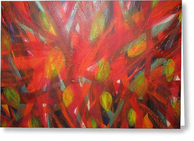 Unconsciousness Greeting Cards - Fire In The Belly Greeting Card by Paula Andrea Pyle