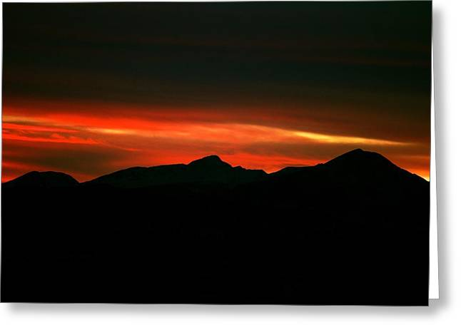 Sunset Posters Greeting Cards - Fire in the Clouds Greeting Card by Kevin Bone