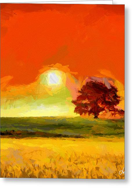 Vincent Dinovici Greeting Cards - Fire in the Sky TNM Greeting Card by Vincent DiNovici