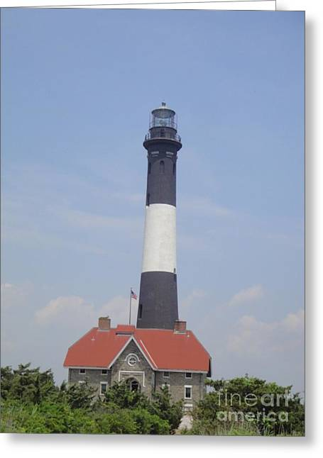 Light Tackle Greeting Cards - Fire Island Light House Greeting Card by Laurence Oliver