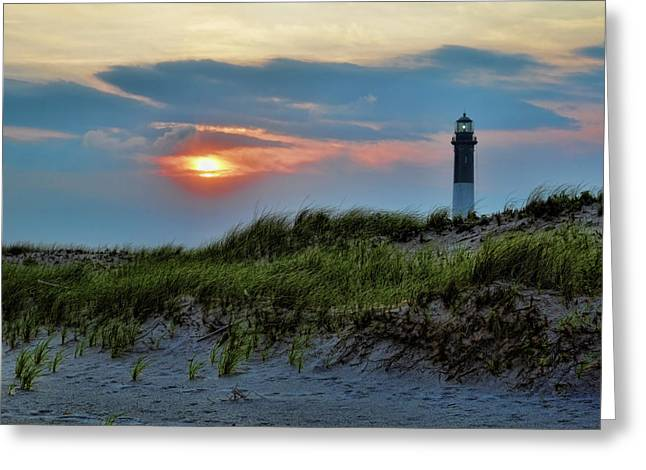 Fire Island Greeting Cards - Fire Island Sunset Greeting Card by Rick Berk