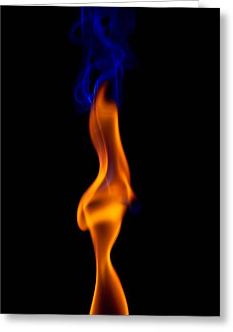 Burning Greeting Cards - Fire Lady Greeting Card by Gert Lavsen
