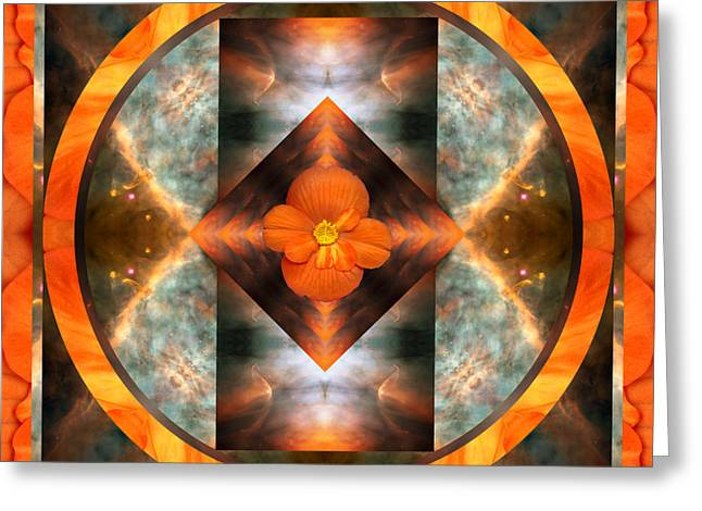 Meditative Art Greeting Cards - Fire Light Greeting Card by Bell And Todd