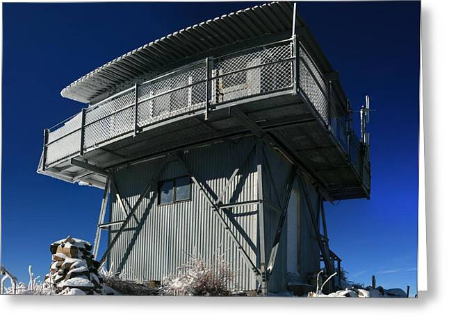 Wildfires Greeting Cards - Fire Lookout Tower Greeting Card by Wyatt Rivard