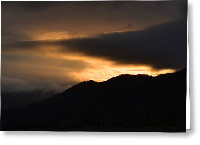 Sunset Posters Greeting Cards - Fire on the Mountain Greeting Card by Kevin Bone