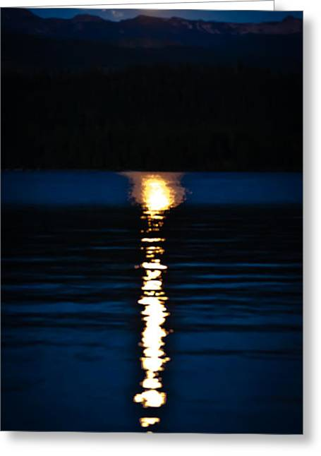 Lanscape Greeting Cards - Fire on the Water Greeting Card by David Patterson