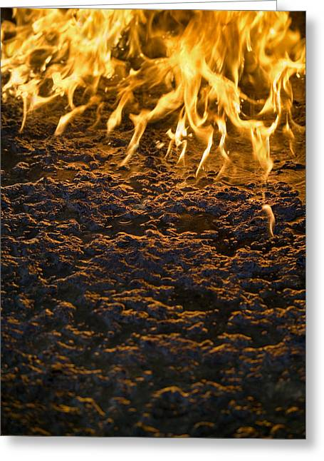 Combusting Greeting Cards - Fire Greeting Card by Paul Rapson