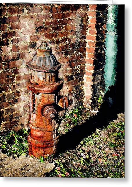 Unique Office Art Greeting Cards - Fire Plug Greeting Card by Colleen Kammerer