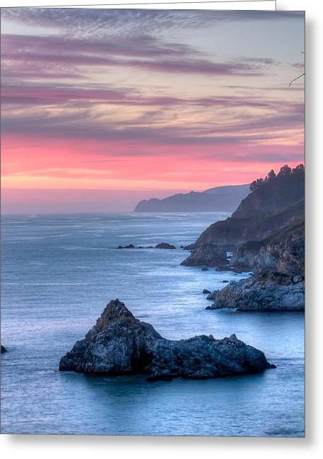 Big Sur Greeting Cards - Fire Sky Greeting Card by Michael Breshears