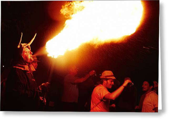 Fuegos Artificiales Greeting Cards - Fire stroke Greeting Card by Agusti Pardo Rossello