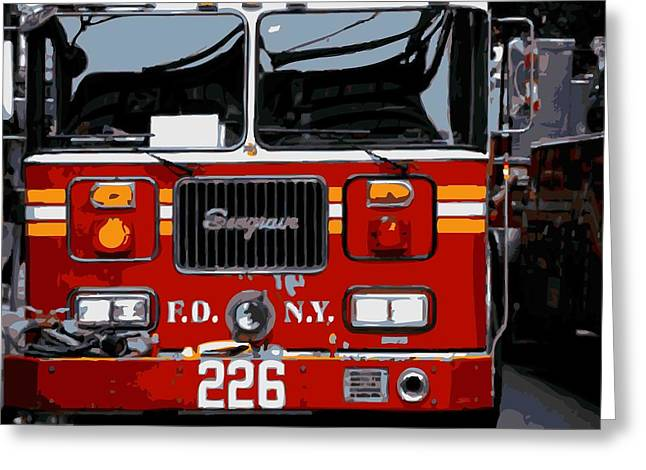 The Capital Of The Universe Greeting Cards - Fire Truck Color 16 Greeting Card by Scott Kelley