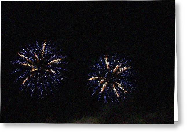Fire Works Show Stippled Paint 1 Canada Greeting Card by Dawn Hay