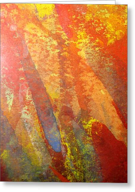 Impressionist Greeting Cards - Firedance Greeting Card by Belinda Consten