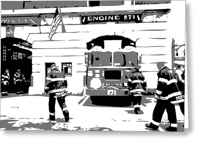 True Melting Pot Greeting Cards - Firehouse BW3 Greeting Card by Scott Kelley