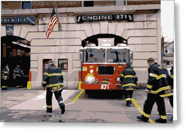 True Melting Pot Greeting Cards - Firehouse Color 16 Greeting Card by Scott Kelley