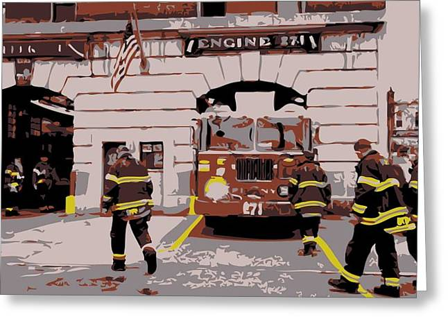 True Melting Pot Greeting Cards - Firehouse Color 6 Greeting Card by Scott Kelley