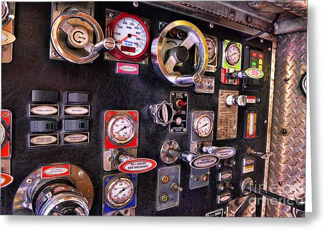 Fireman - Discharge Panel Greeting Card by Paul Ward