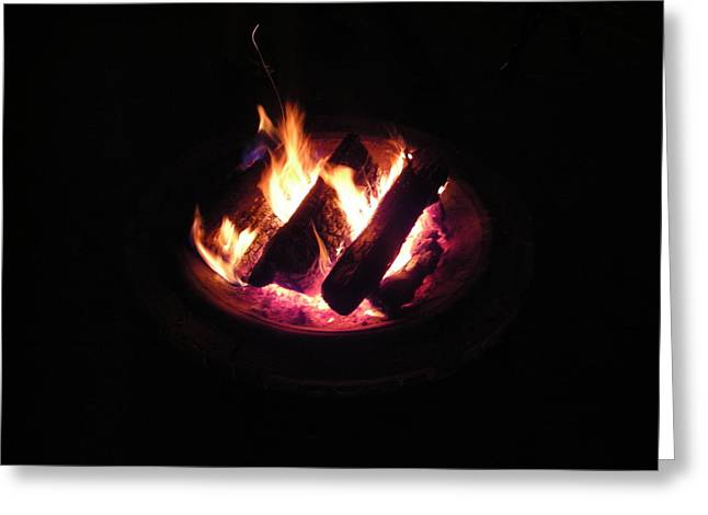 Firepit Greeting Cards - Firepit Greeting Card by Utopia Concepts