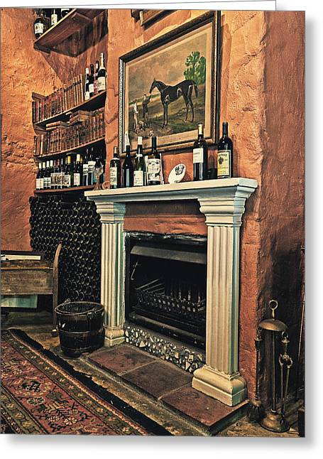 Winelands Greeting Cards - Fireplace Greeting Card by Benjamin Matthijs