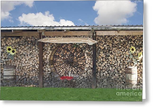 Firewood Art Greeting Card by Jaak Nilson