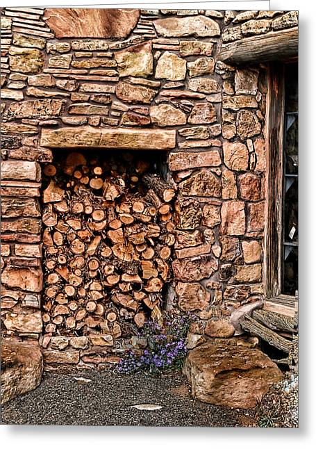 Decour Greeting Cards - Firewood Greeting Card by Tom Prendergast