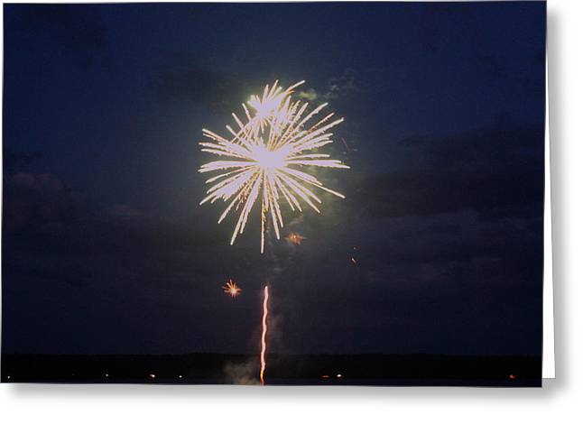 Firework Explosion Greeting Card by Robbie Basquez
