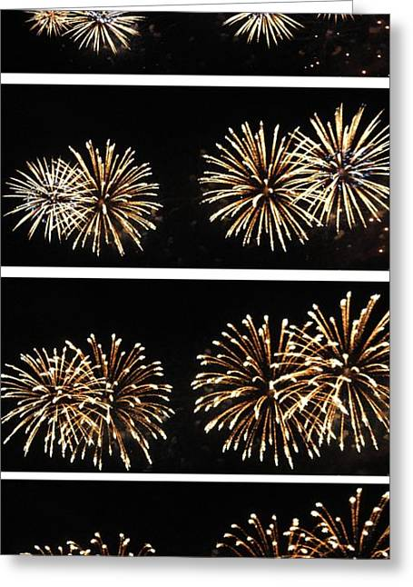 Pyrotechnics Greeting Cards - Firework lifecycle 1 Greeting Card by Meandering Photography