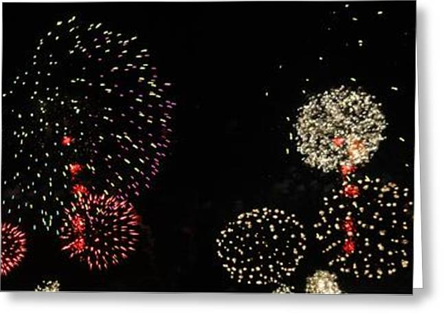 4th July Photographs Greeting Cards - Firework lifecycle 3 Greeting Card by Meandering Photography