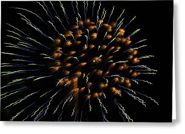Brighthouse Field Greeting Cards - Fireworks 1 Greeting Card by Judy Wanamaker
