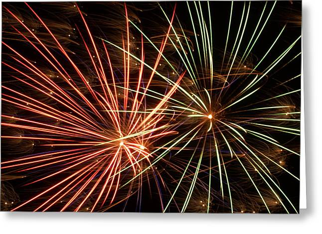4th July Greeting Cards - Fireworks -15 Greeting Card by Ron Read