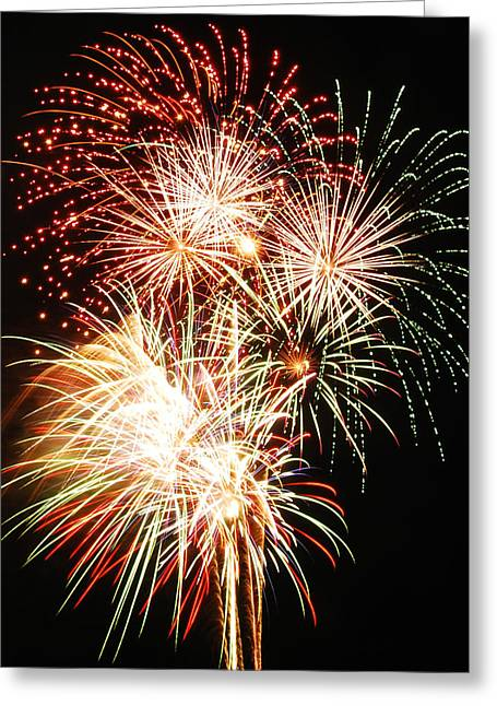 Firework Display Greeting Cards - Fireworks 1569 Greeting Card by Michael Peychich
