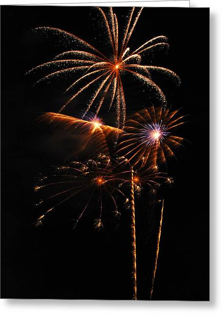 Pyrotechnics Greeting Cards - Fireworks 1580 Greeting Card by Michael Peychich