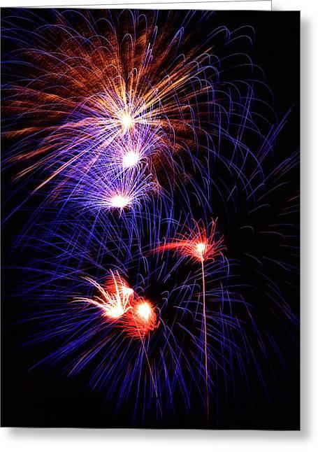 Isaac Silman Greeting Cards - Fireworks 2 Greeting Card by Isaac Silman