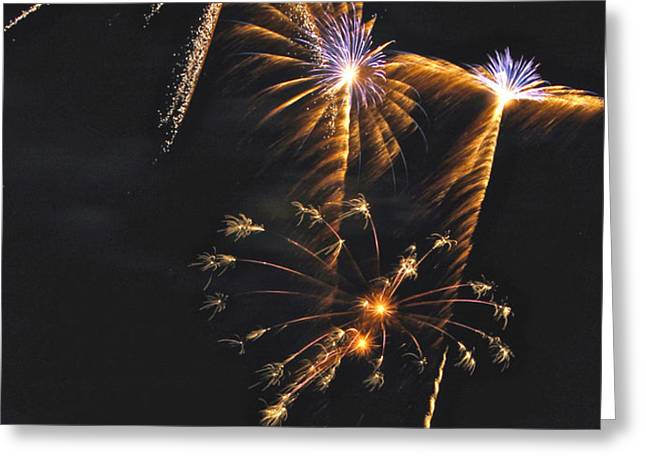 Fireworks 3 Greeting Card by Michael Peychich