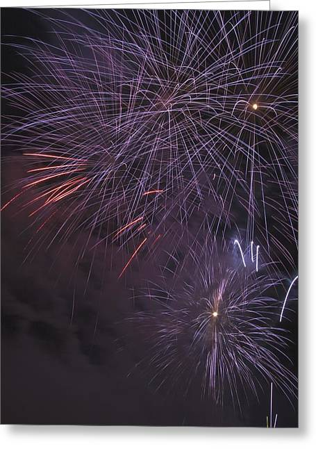Pyrotechnics Greeting Cards - Fireworks, Crowsnest Pass, Alberta Greeting Card by Michael Interisano